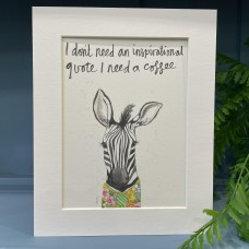 Animal Art Inspirational Quote Parker the Zebra
