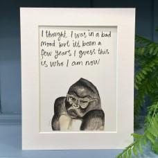 Animal Art Bad Mood Phil the Gorilla