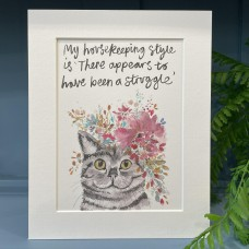 Animal Art Housekeeping Style Storm Cat