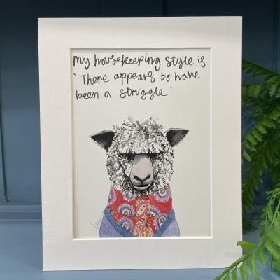 Animal Art Housekeeping Style Sydney the Sheep
