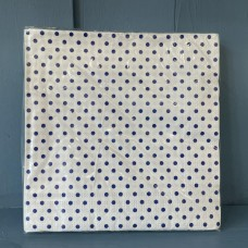 White and Blue Dots Napkins