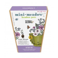 Mini Meadow Bamboo Pots Butterfly Mix