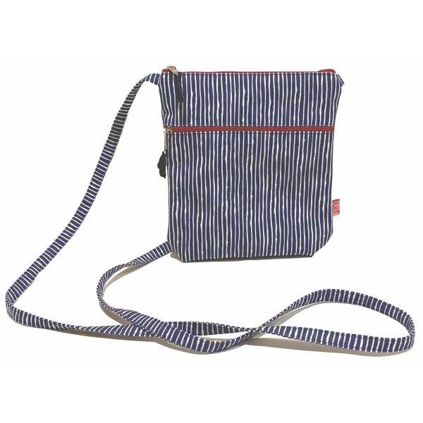 Lua Cross Body Bag Navy Stripe