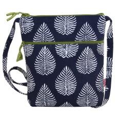 Lua Cross Body Bag Navy Leaf