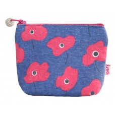 Lua Mini Zipped Purse Poppy Blue Pink
