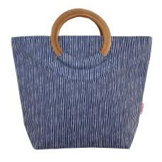 Lua Round Handle Bag Navy Stripe