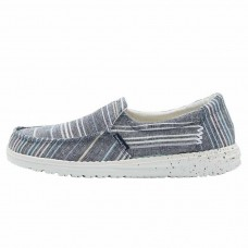 HEY DUDE MISTY CHAMBRAY STRIPES BLUE RRP £39.95