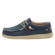 HEY DUDE WALLY NATURAL NIGHT BLUE BRAIDED RRP £49.95