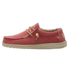 HEY DUDE WALLY NATURAL POMPEIAN RED BRAIDED RRP £49.95