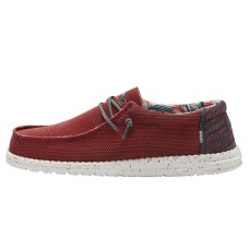 HEY DUDE WALLY SOX KITE LAVA RED RRP £49.95