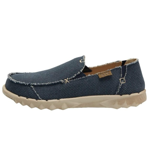 HEY DUDE FARTY NATURAL NIGHT BLUE RRP £44.95