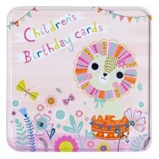 Childrens Birthday Notelet Tin