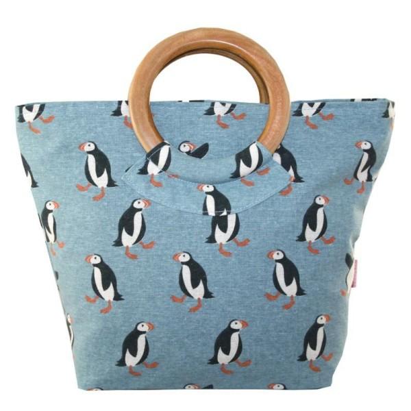 Lua Round Handle Bag Puffins