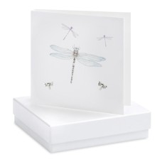 Boxed Earrings Dragonfly