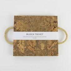 Sustainable Cork Block Trivet