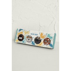 SEASALT Sailor Socks Box O'4 Raining Cats and Dogs