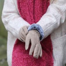 Ladies Faux Suede Gloves Camel