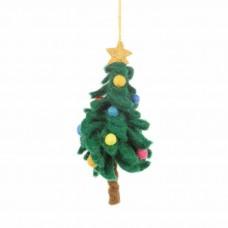 FELT SO GOOD Felt Colourful Christmas Tree Hanging Decoration