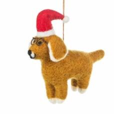 FELT SO GOOD Felt Saint Dog Nicholas Hanging Christmas Decoration
