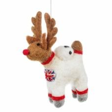 FELT SO GOOD Felt Reindeer Astronaut Christmas Decoration