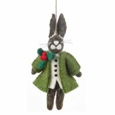 FELT SO GOOD Felt Hector Christmas Hare Hanging Decoration