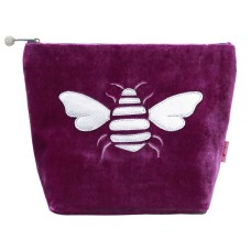 LUA Metallic Bee Large Cosmetic Purse Magenta