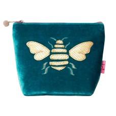 LUA Metallic Bee Small Cosmetic Purse Aqua