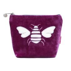 LUA Metallic Bee Small Cosmetic Purse Magenta