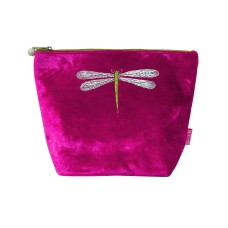 LUA Dragonfly Large Cosmetics Purse Hot Pink