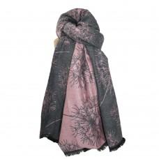 Cosy Dandelion Scarf Grey/Pink