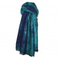 Cosy Dandelion Scarf Turquoise/Navy
